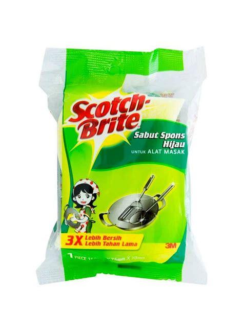 Sabut Spons Hijau scotch brite scourer id 30 sabut spons hijau pcs 3x4inch