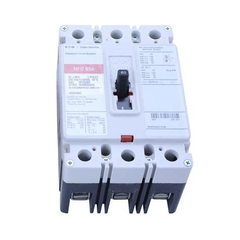 80 Circuit Breaker Price by Eaton Cutler Hammer Hfd3080 6639c86g94 3 Pole 80 600v