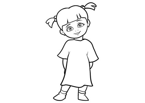 page boo monsters inc coloring coloring pages