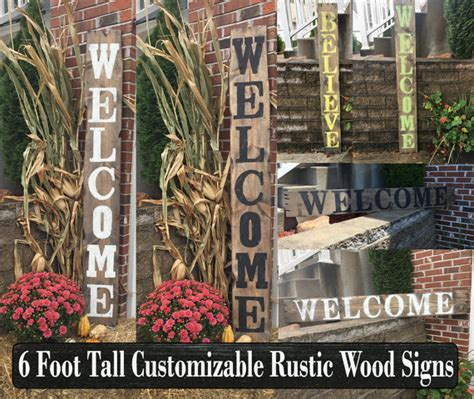 custom wood signs large signs porch decor front porch