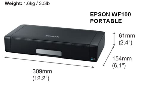 Printer Kecil harga printer epson wf100 portable murah glodok printer