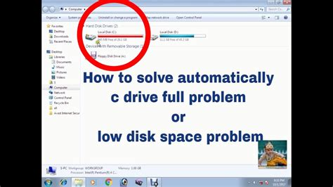 drive c suddenly full how to solve automatically c drive full problem low disk