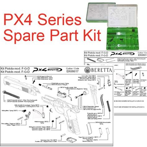 kit spare parts for pistols px4 series