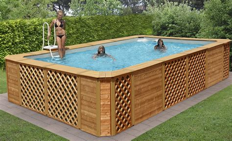 piscine fuori terra rivestite in legno rivestimenti piscine fuori terra intex cl28 187 regardsdefemmes