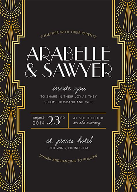 Wedding Invitations Mr Gatsby At Minted Com Great Templates