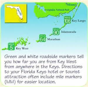 florida with mile markers map
