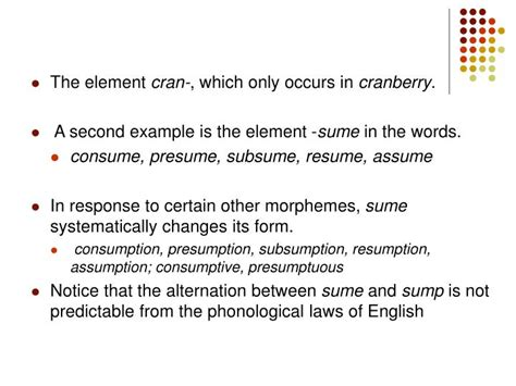 sume definition ppt morphology it s relation with phonology syntax