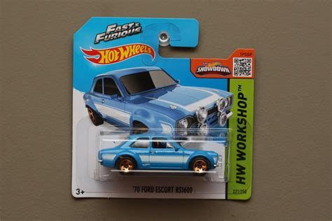 Hotwheels Shortcard Fast N Furious Ford wheels 2015 hw workshop 70 ford rs1600 blue fast furious