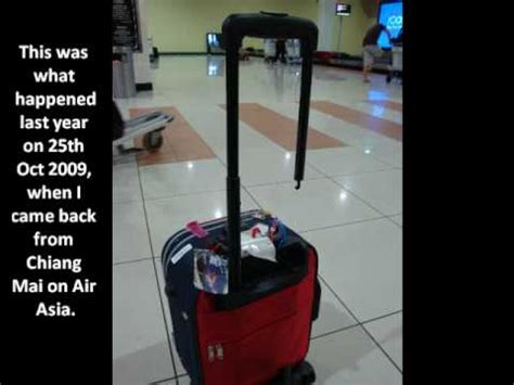 airasia cabin size air asia baggage handling youtube