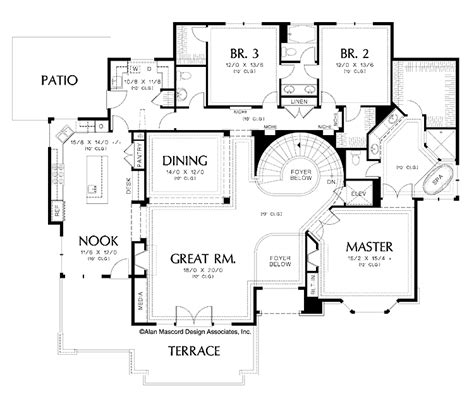exceptional house plans with elevators 11 dual staircase floor plans with elevator