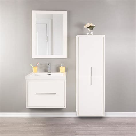 Bathroom Shelves Rona Linen Cabinet Carlington 2 Doors 3 Shelves Gloss