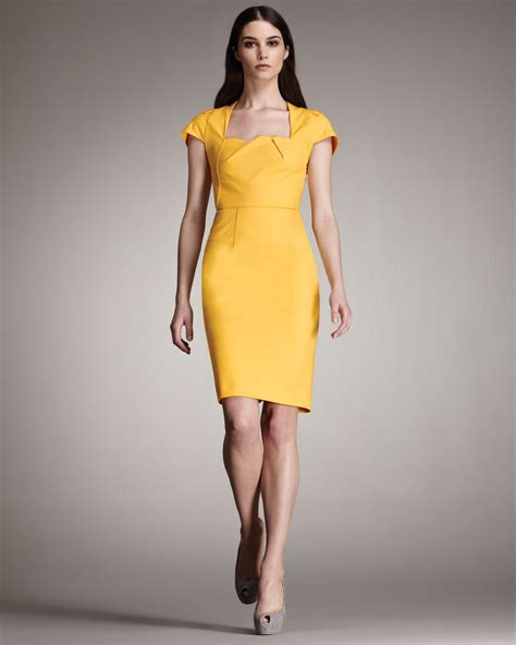 Roland mouret Exclusive Feeny Sheath Dress in Yellow   Lyst