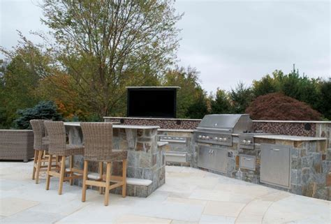 Upscale Backyard Bbq Custom Outdoor Bar Bbq Grill Design Installation