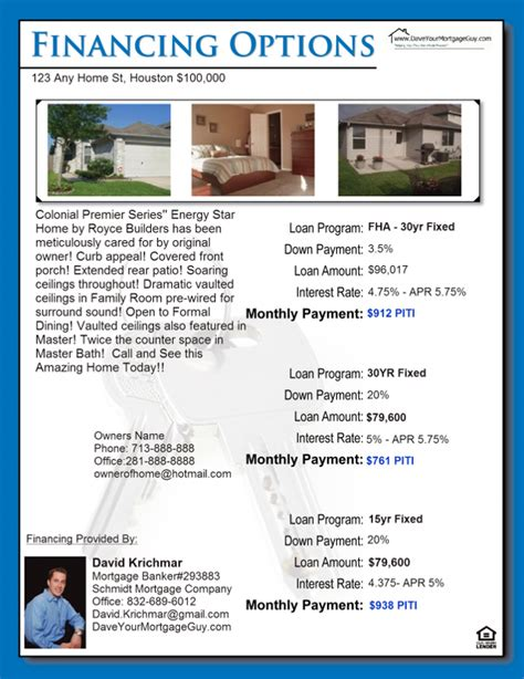 free mortgage flyer templates mortgage flyers templates free programs utilities and