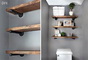 How to make your own restoration hardware inspired pipe shelving