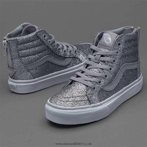 vans sneakers for shoes vans sk8 hi zip shimmer silver