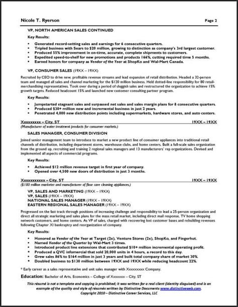 2 page resume format sles sales manager resume general manager resume