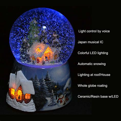 led christmas snow globe with high quality buy led snow