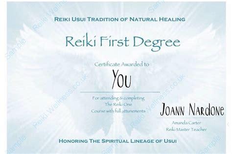 reiki level  certification class