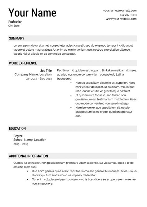 Resume Experience Summary How To Write A Resume Sle Recentresumes