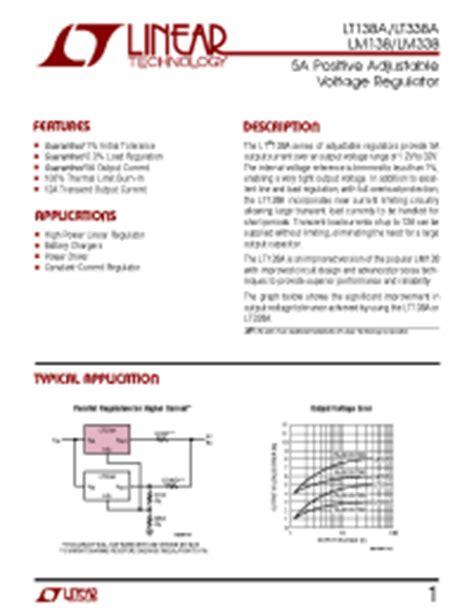 transistor lm338k datasheet lm338k linear 5a positive adjustable voltage regulator voltage regulators