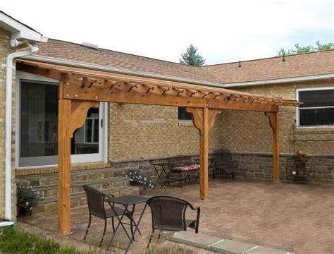 affordable and cost effective pergola attached to house