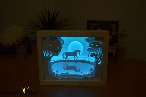 How To Make A Paper Lighter - how to create a 3d paper cut light box diy project