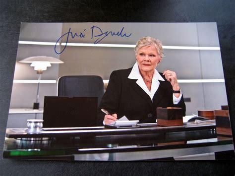 james bond collectibles autograph dame judi dench