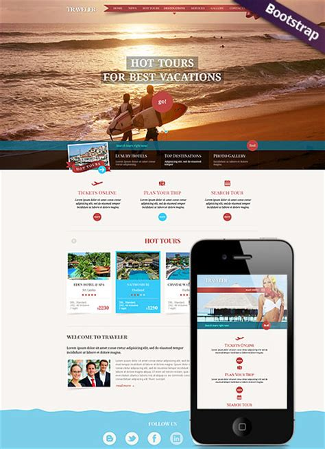 free bootstrap templates for tourism travel bootstrap template id 300111710 from simavera com