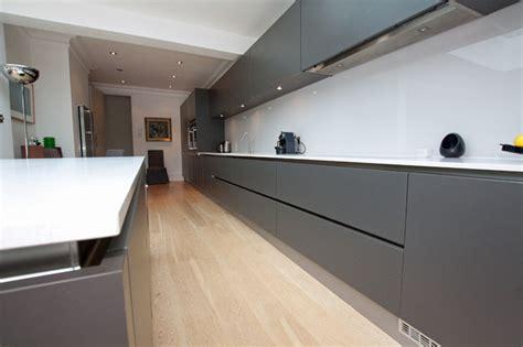 modern handleless kitchens handleless matt grey kitchen modern kitchen other