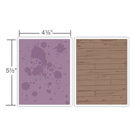sizzix tim holtz ink splats  wood planks set embossing