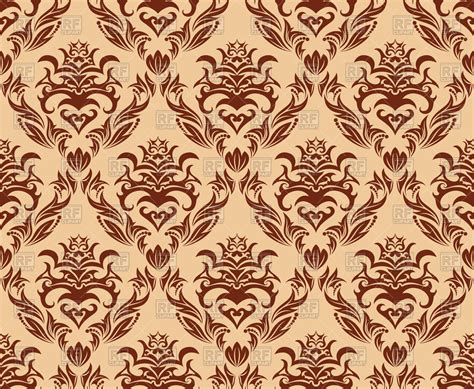 wall pattern design vector brown seamless old wallpaper pattern royalty free vector