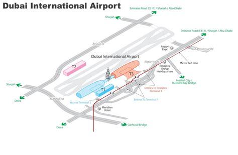 international airport map dubai airport terminal 3 concourse b map