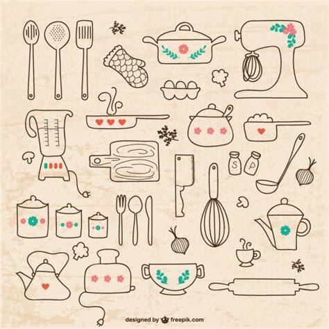 imagenes vectoriales cocina gratis utensilios de cocina dibujos vector gratis vinyl