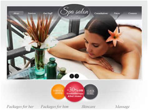 spa salon free website template free css templates