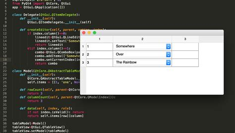 qtableview tutorial python how to set text to qlineedit when it is used as