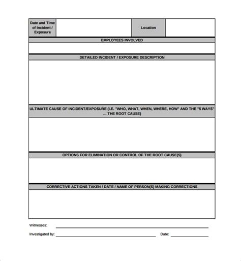 14 Investigation Report Templates Sle Templates Investigation Report Template