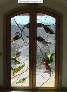 amazing stained glass decorations for doors painting on