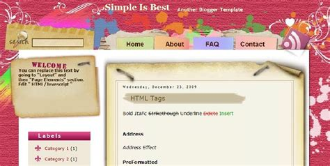 simple is best blogger template scrapbooking easy to