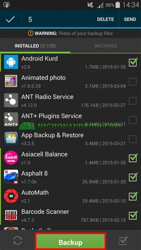 how to restore apps on android guide how to backup restore android apps no root required howto highonandroid