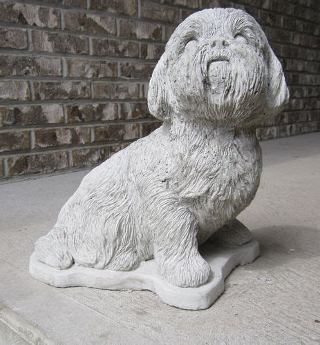 shih tzu decor custom painted cement statues of your best friend from your photos shih tzu decor