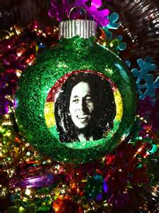 bob marley glass glitter resin christmas by electricladyland1