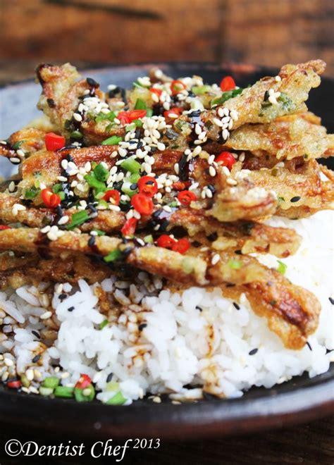 crispy enoki mushrooms tempura  teriyaki sauce