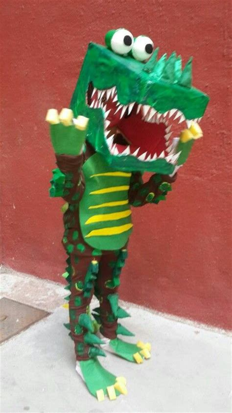 My daughter wearing crocodile homemade costume in fancy ...