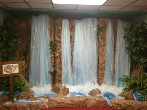 waterfalls decoration home waterfall for stage srp 2014 jungle theme