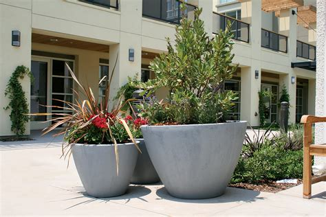 Yard Planters by Best Way To Use Large Fiberglass Planters Front Yard