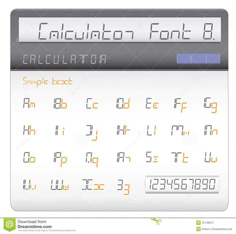 calculator font calculator font royalty free stock photography image