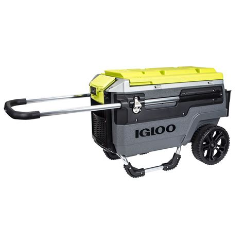 igloo sportsman 70 cooler igloo sportsman 70 qt retractable handles cooler 00049234