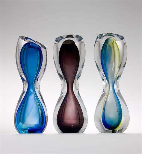Home Decor Bg Glass Art Ornament Hourglass By Remigijus Kriukas