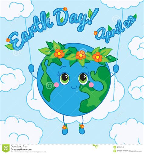 card on day earth day 22 april greeting card stock vector image